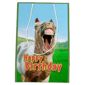 Happy Birthday from the happy horse Medium Gift Bag