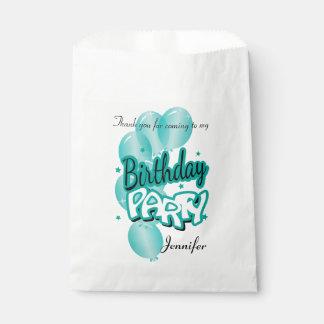 Happy Birthday Fun Thank You | Teal Favour Bag