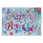 Happy Birthday Funny Letters   Greeting Card
