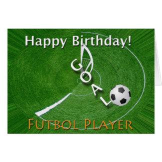 Happy Birthday Futbol Soccer Player Card