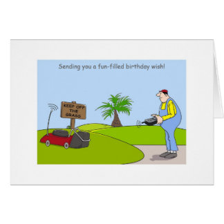Happy Birthday Gardening Cards, funny gardener Card