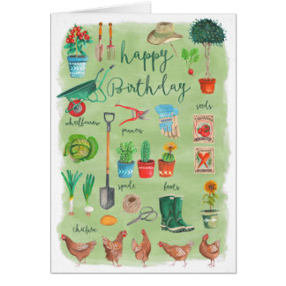 Happy Birthday Gardening Garden | Greeting Card