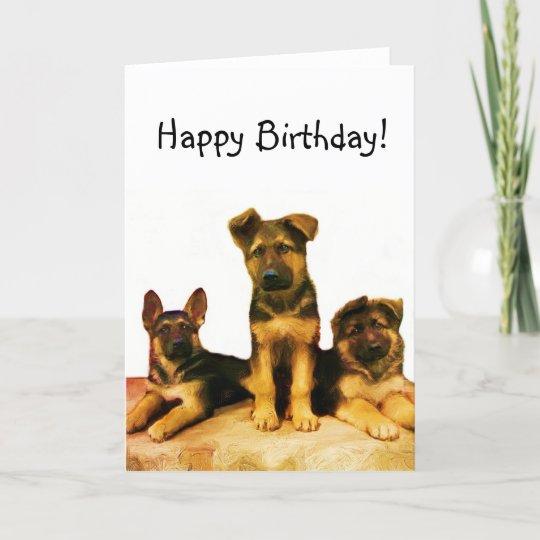 Happy birthday german shepherd puppies card zazzle happy birthday german shepherd puppies card m4hsunfo
