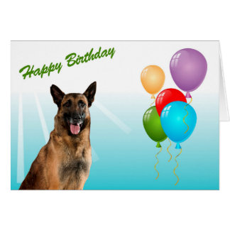 Happy Birthday German Shepherd Puppy Dog Card