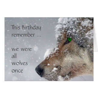 Happy Birthday Getting Older Wolves Humor Card