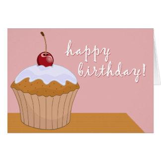 happy birthday : giant cupcake : card