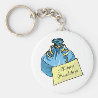 Happy Birthday Gift Bag Key Chains