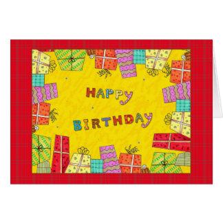 Happy Birthday Gift Boxes - birthday greeting card