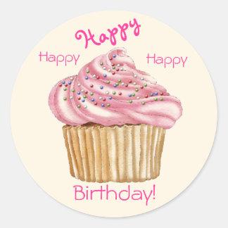Happy Birthday Gift Seals Round Sticker