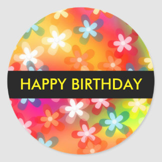 Happy Birthday Gift Sticker