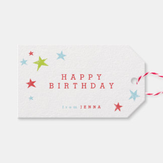 Happy birthday | Gift Tag Pack of 10 Tags