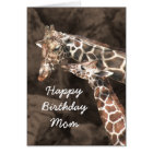 Happy Birthday Giraffe Mom and Baby Customize Card
