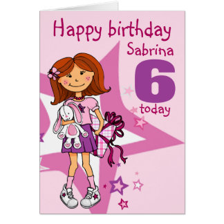 Happy Birthday Girl named age card