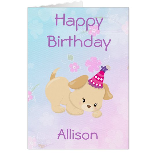 Happy Birthday Girl Personalize Card