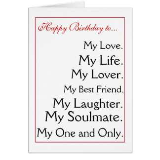 Happy Birthday girlfriend.boyfriend,wife,husband Card