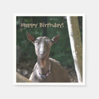 Happy Birthday Goat Disposable Napkin