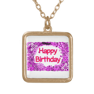 Happy Birthday Gold Plated Necklace