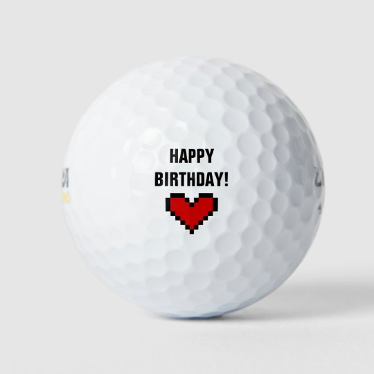 Happy Birthday Golf Ball Gift Idea For Him Or Her