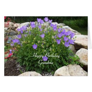 Happy Birthday Grandma-Canterbury Bells Card