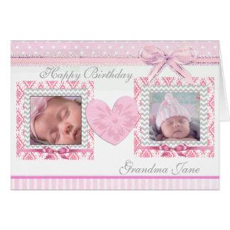 Happy Birthday Grandma Personalized Birthday Card
