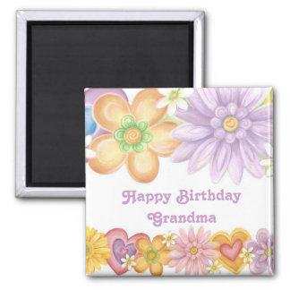 Happy Birthday Grandma Square Magnet