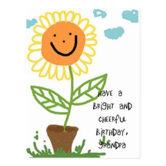 Happy Birthday Grandpa Postcard