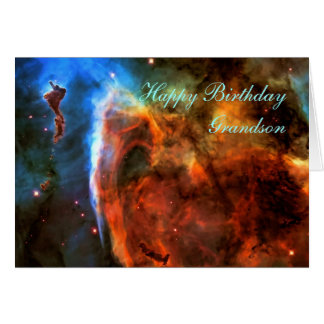Happy Birthday Grandson - Keyhole Nebula Card