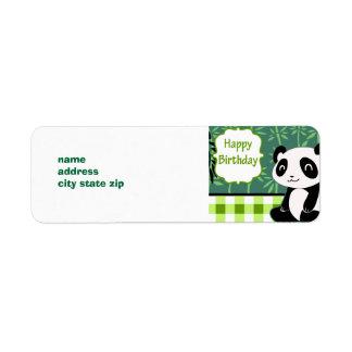 Happy Birthday Green Bamboo Panda