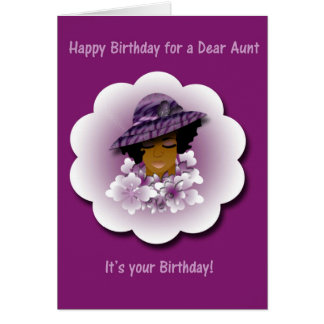 Happy Birthday greeting card for Aunt
