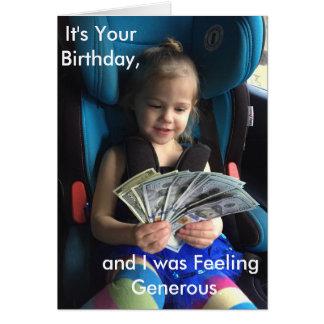Happy Birthday Greeting Card, Humorous Card