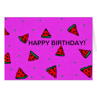 happy birthday greeting card watermelon design