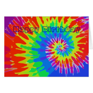 Happy Birthday Groovy Tie-Dye Card