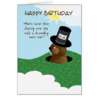 Happy Birthday Groundhog Day Feb 2nd Card
