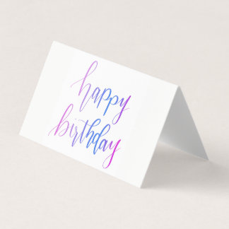 Happy Birthday Handlettered Greeting Cards