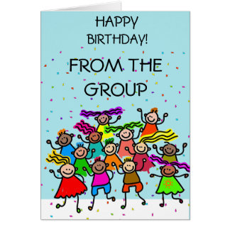 Happy birthday from group cards happy birthday from group happy birthday happy children greeting card bookmarktalkfo Gallery