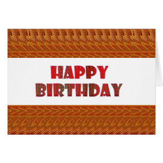 HAPPY BIRTHDAY HappyBirthday TEXT n ARTISTIC BASE Greeting Card