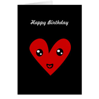 Happy Birthday Heart  44 Card
