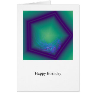 Happy Birthday Hex Card