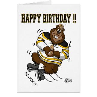 Happy Birthday Hockey Bear Card