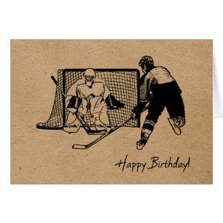 Happy Birthday! Hockey Card - Male