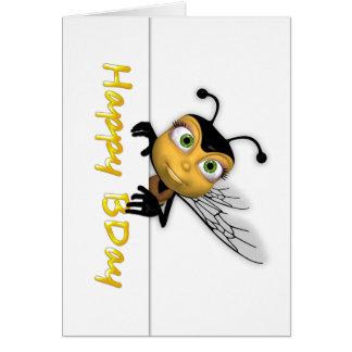 Happy Birthday Honey Bee - Happy BDay Greeting Card