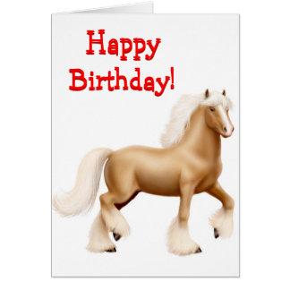 Happy Birthday Horse Customizable Card