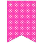Happy Birthday Hot Pink with White Polka Dots Bunting Flags