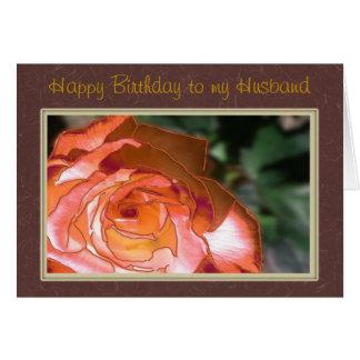 happy Birthday Husband Greeting Card