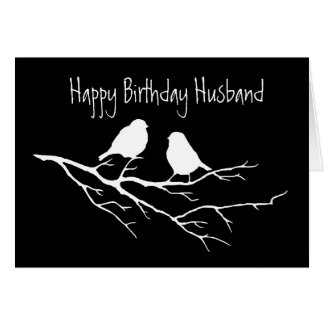 Happy Birthday Husband Special Friend, Two Birds Greeting Card