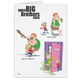 Happy Birthday (Jerk) Brother Greeting Card