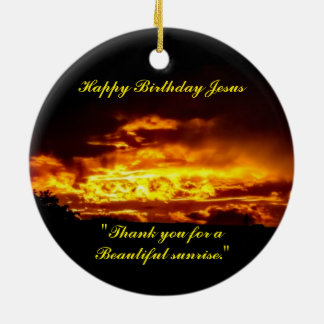 Happy Birthday Jesus Ceramic Ornament