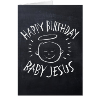 Happy Birthday Jesus - Chalkboard Christmas Card