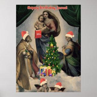 Happy Birthday, Jesus! Funny remake of Raphael Posters