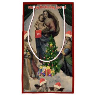 Happy Birthday, Jesus! Funny remake of Raphael Small Gift Bag